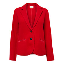 Buy East Classic Boiled Wool Blazer, Scarlet Online at johnlewis.com
