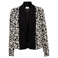 Buy East Floral Jacquard Jacket, Black Online at johnlewis.com