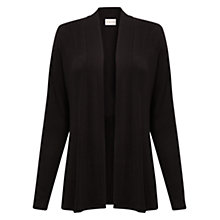 Buy East Peplum Jersey Cardigan, Black Online at johnlewis.com