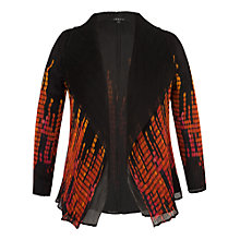 Buy Chesca Abstract Spot Border Print Crush Pleat Shrug, Black/Orange Online at johnlewis.com