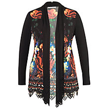 Buy Chesca Floral Print Shrug, Black Online at johnlewis.com