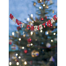 Buy CCA Personalised Christmas Garland Charity Christmas Cards Online at johnlewis.com