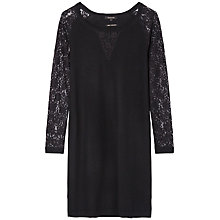 Buy Gérard Darel Lace Detail Wool Dress, Black Online at johnlewis.com