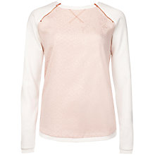 Buy Ted Baker Snake Front Jumper, Baby Pink Online at johnlewis.com
