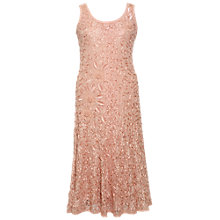 Buy Chesca Embroidered Trim Dress, Apricot Online at johnlewis.com