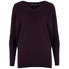 Buy Ted Baker V-neck Cashmere Jumper, Purple Online at johnlewis.com