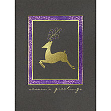 Buy CCA Personalised Elegant Reindeer Charity Christmas Cards Online at johnlewis.com