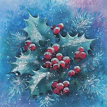 Buy CCA Personalised Frosty Holly Charity Christmas Cards Online at johnlewis.com