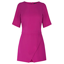 Buy Warehouse Skort Detail Playsuit, Bright Pink Online at johnlewis.com