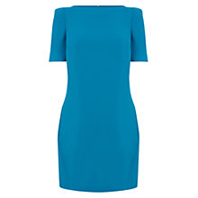 Buy Warehouse Shoulder Pad Shift Dress, Teal Online at johnlewis.com