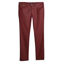 Buy Violeta by Mango Slim-Fit Carmex Jeans, Dark Red Online at johnlewis.com