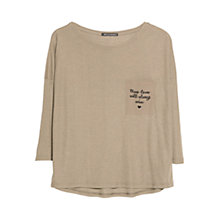 Buy Mango Printed Message Pocket T-Shirt Online at johnlewis.com