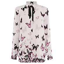 Buy Warehouse Butterfly Print Blouse, Pink Pattern Online at johnlewis.com