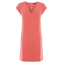 Buy Warehouse V Neck Shift Dress, Light Pink Online at johnlewis.com