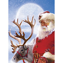 Buy CCA Personalised Reindeer and Santa Charity Christmas Cards Online at johnlewis.com