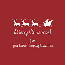 Buy CCA Personalised Santa and Sleigh Charity Christmas Cards Online at johnlewis.com