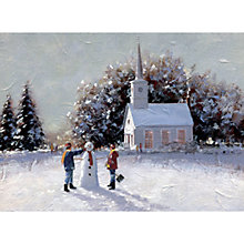 Buy CCA Personalised Snowman on Hill Charity Christmas Cards Online at johnlewis.com