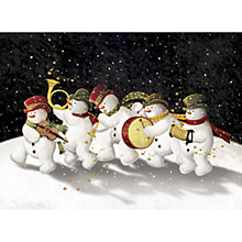 Buy CCA Personalised Snowman Band Charity Christmas Cards Online at johnlewis.com