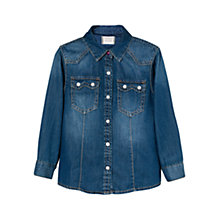Buy Mango Kids Girls' Denim Shirt, Blue Online at johnlewis.com