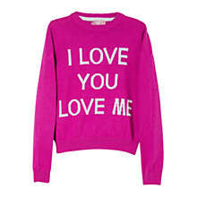 Buy Mango Kids Girls' Wool Blend Love Jumper Online at johnlewis.com