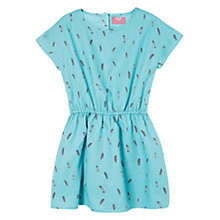 Buy Mango Kids Feather Print Dress Online at johnlewis.com