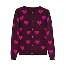 Buy Mango Kids Girls' Heart Wool Blend Cardigan Online at johnlewis.com