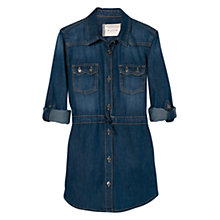 Buy Mango Kids Girls' Denim Shirt Dress. Navy Online at johnlewis.com