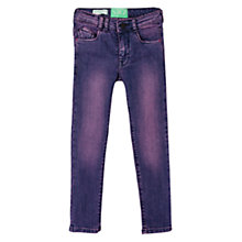 Buy Mango Kids Girls' Distressed Skinny Jeans, Mauve Online at johnlewis.com