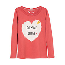 Buy Mango Kids Girls' Long Sleeve Sequin Heart Top Online at johnlewis.com