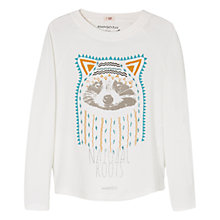 Buy Mango Kids Girls' Beaded Animal Long Sleeve T-Shirt, White Online at johnlewis.com