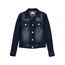 Buy Mango Kids Girls' Denim Jacket, Navy Online at johnlewis.com