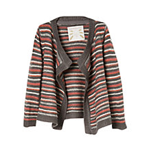 Buy Mango Kids Girls' Striped Waterfall Cardigan Online at johnlewis.com