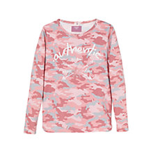 Buy Mango Kids Girls' Sequin Camo Print Long Sleeve T-Shirt, Pink Online at johnlewis.com