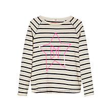 Buy Mango Kids Girls' Striped Sequin Long Sleeved T-Shirt Online at johnlewis.com