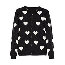 Buy Mango Kids Heart Wool Blend Cardigan Online at johnlewis.com