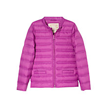 Buy Mango Kids Girls' Feather Down Coat, Purple Online at johnlewis.com
