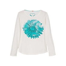 Buy Mango Kids Girls' Beaded Flower Long Sleeve T-Shirt Online at johnlewis.com