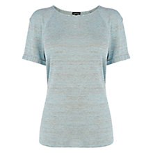 Buy Warehouse Turn Back Tee, Light Blue Online at johnlewis.com