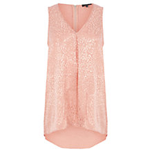 Buy Warehouse Animal Jacquard Top, Light Pink Online at johnlewis.com