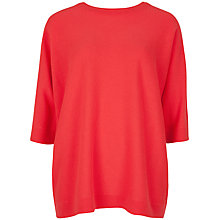 Buy Ted Baker Oversize Cashmere Jumper, Bright Red Online at johnlewis.com