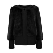 Buy Ted Baker Farika Faux Fur Jacket, Black Online at johnlewis.com