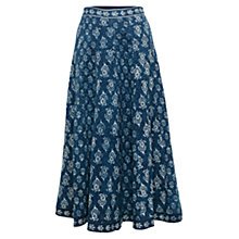 Buy East Chayla Panelled Skirt, Indigo Online at johnlewis.com
