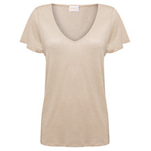 Buy East Pintuck Linen Tunic Top, Calico Online at johnlewis.com