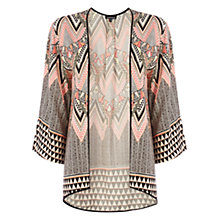 Buy Warehouse Placement Tribal Kimono Jacket, Multi Online at johnlewis.com
