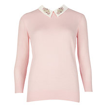 Buy Ted Baker Embellished Collar Jumper Online at johnlewis.com