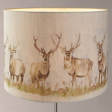 Buy Voyage Moreland Stags Drum Shade, Natural Online at johnlewis.com
