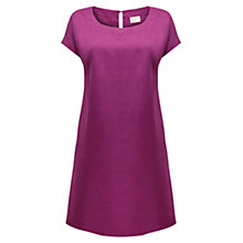 Buy East Scoop Neck Linen Dress, Magenta Online at johnlewis.com