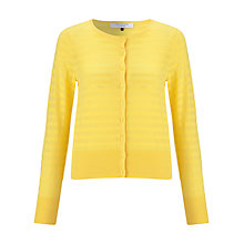 Buy COLLECTION by John Lewis Stripe Cotton Cardigan, Yellow Online at johnlewis.com