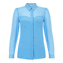 Buy Somerset by Alice Temperley Two Pocket Shirt, Light Blue Online at johnlewis.com