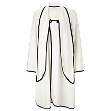 Buy Somerset by Alice Temperley Sleeveless Poncho, Cream/Black Online at johnlewis.com